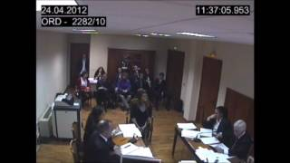 Carlota Corredera declarando falsas verdades en el juicio que gano Pepa Jimenez a Mediaset