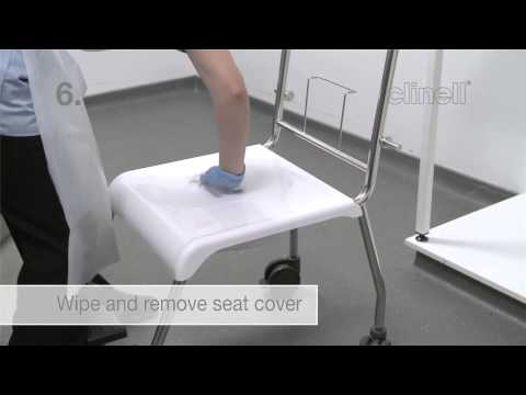 Commode cleaning demonstration - Clinell