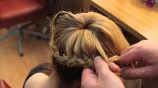 Плетеный пучок пошагово. Коса вокруг пучка видео.