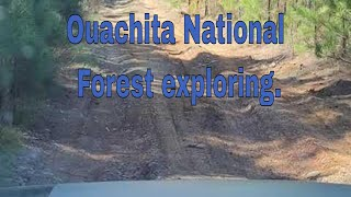 Exploring the Ouachita Natİonal Forest in the jeep cherokee trailhawk.