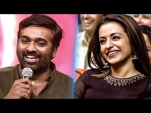 En Jaanu Saar  Vijay Sethupathi - Trisha CUTE Romance Onstage Petta