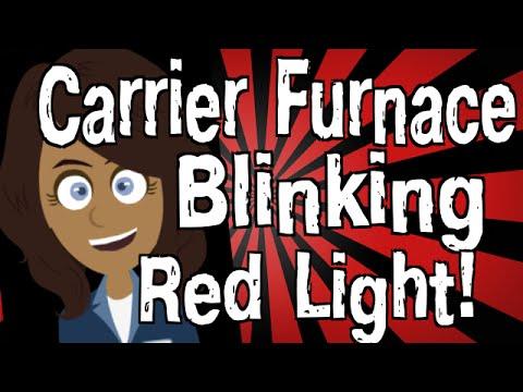 Carrier Furnace Blinking Red Light - YouTube