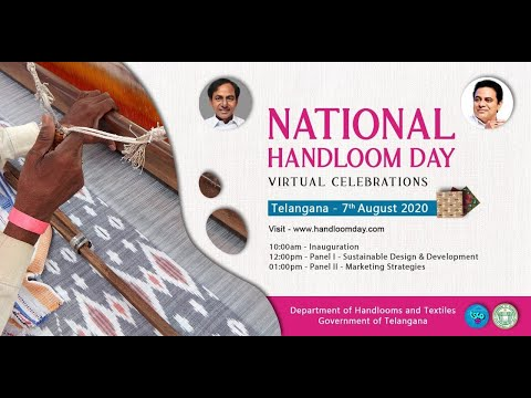 Minister KTR speech in National Handloom Day Virtual Celebrations