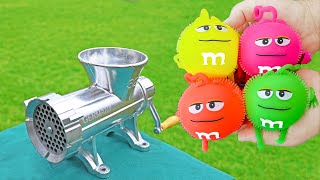 EXPERIMENT M&M Candy TOY VS MEAT GRINDER