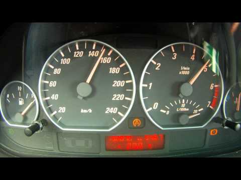 BMW 330Ci E46 0 - 100 , 0 - 180  stock acceleration