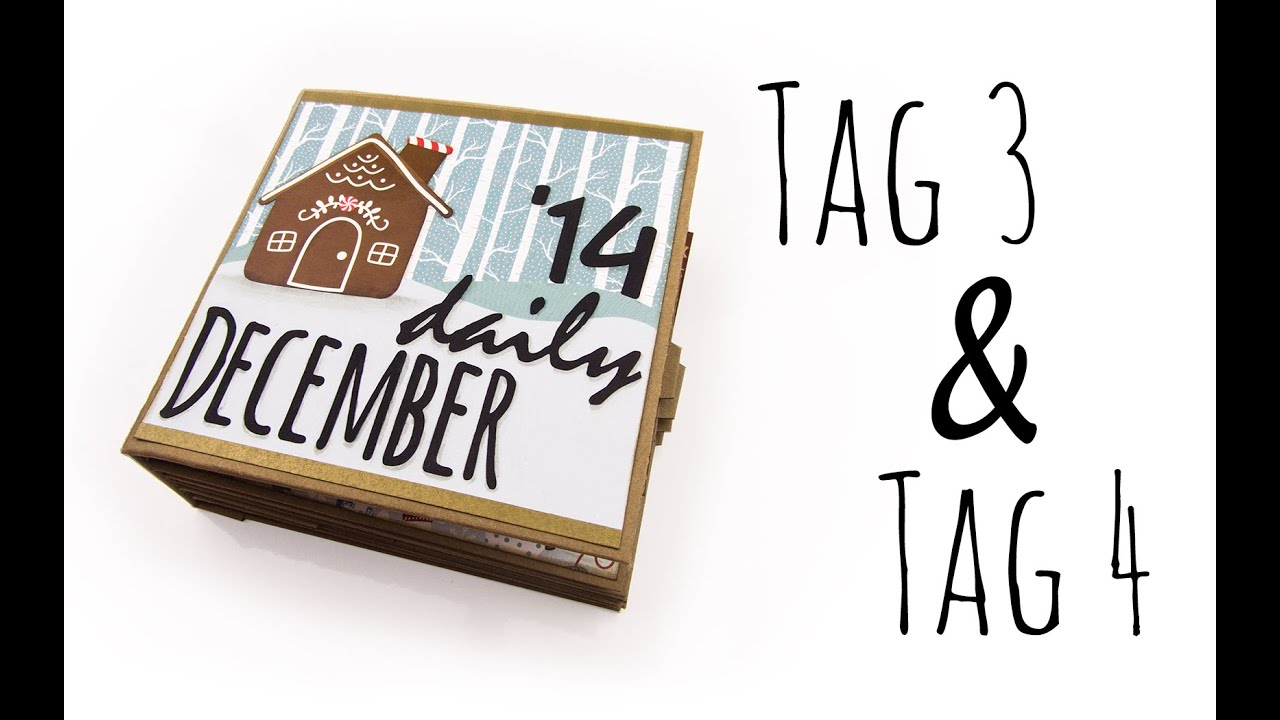 December Daily Art Journal Tag 3 & Tag 4  Weihnachts