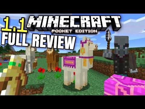 MCPE 1.1 FULL REVIEW! // Minecraft PE 1.1 release changelog! (Terracotta, llamas, mansions, & MORE!)