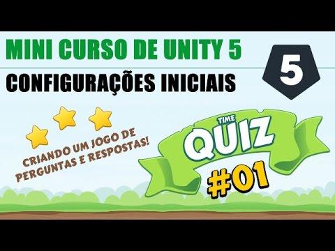 Tutorial Unity 5 - Vídeo Aula: Criando Um Jogo QUIZ Parte 1 - Android E PC