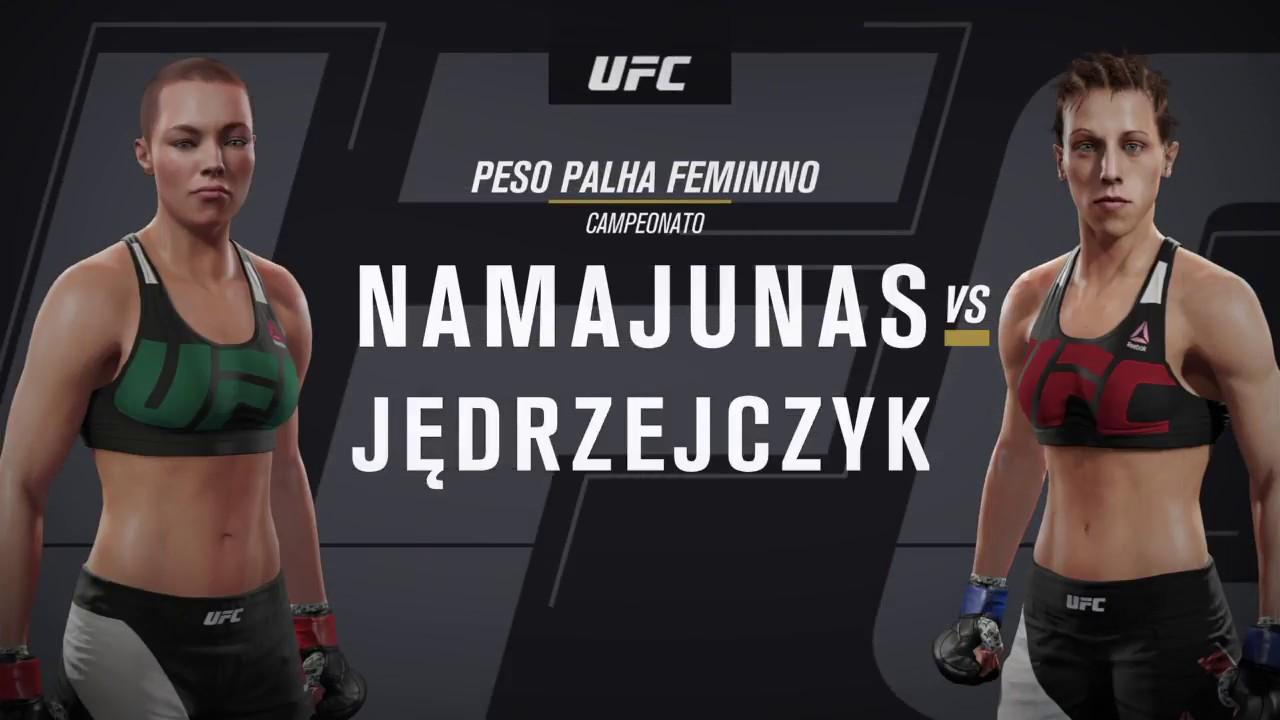 EA Sports UFC 2 - Joanna Jedrzejczyk KO - YouTube