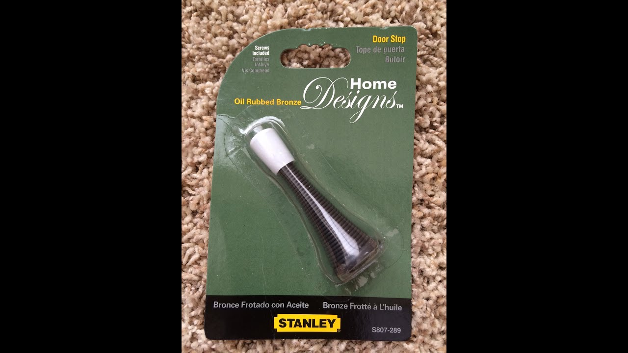 How To Install Home Design   Bronze Door Stop   New Look   Home Depot    YouTube