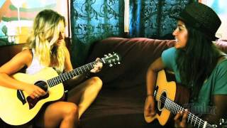 Chanelle Sladics and Cindy Santini with Taylor Guitars' GS Mini