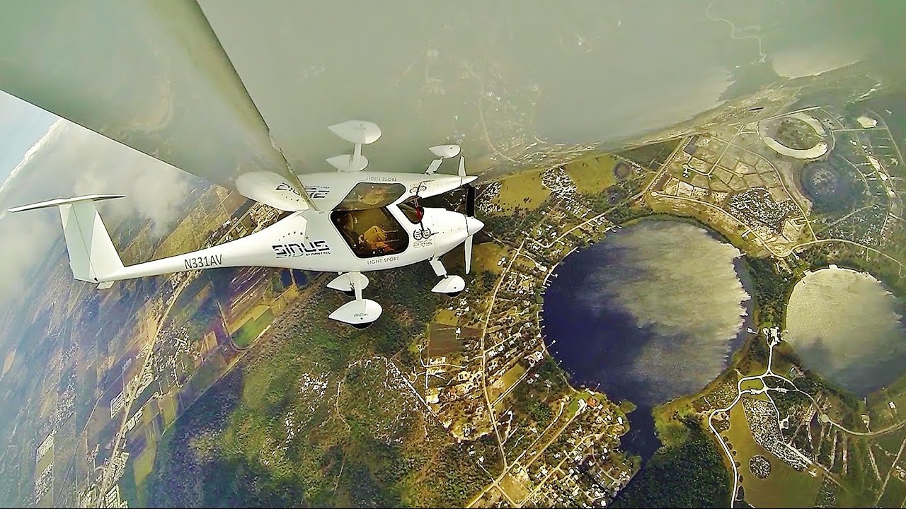 Pipistrel Sinus Motorglider Demo Flight with Rand Vollmer - Sebring Sport Aviation Expo