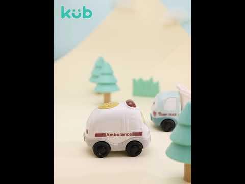 Kub Musical Inertial Toy Car Set (4pcs/set)