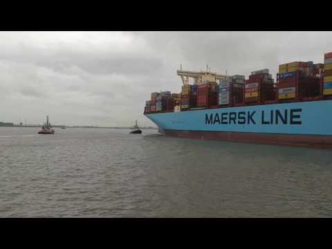 Madrid Maersk aankomst Antwerpen