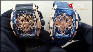 Cvstos Proud To Be Russian chrono II Blu vs Black обзор цена купить(, 2016-04-21T17:10:21.000Z)