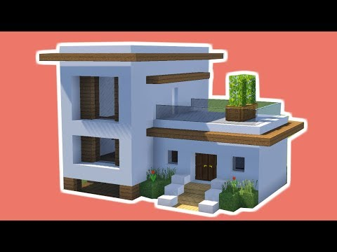 Minecraft Tutorial Cara Membuat Rumah Kecil Modern 7