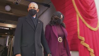 Barack Obama, Michelle Obama arrive at Biden Inauguration