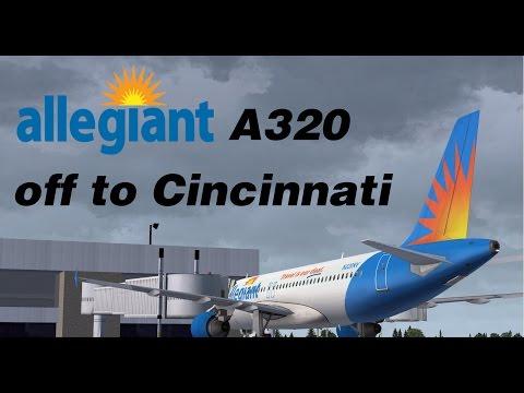 FSX ᴴᴰ | Aerosoft A320 | Allegiant Air | KPIE to KCVG