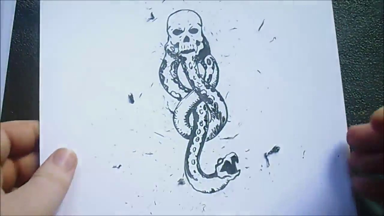 How to draw the death eater logo youtube how to draw the death eater logo biocorpaavc Images
