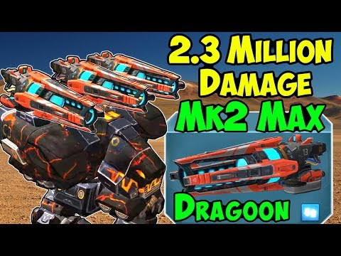 War Robots Brutal 2.3 Million Dmg Gameplay Mk2 Maxed Dragoon Fury WR