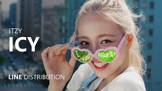ITZY - ICY | Line Distribution