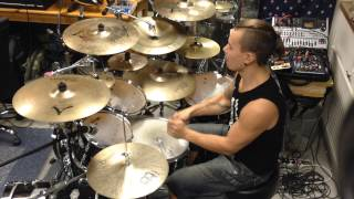 Patrik Fält - Children Of Bodom - Silent Night, Bodom Night 105% (drum cover)