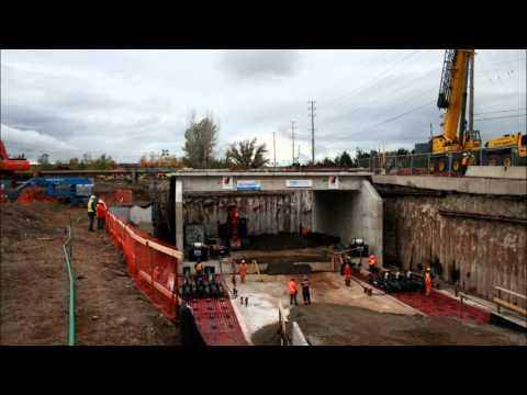 Large Bridge Jacking and Pushing Project - Western Mechanical Heavy Lifting