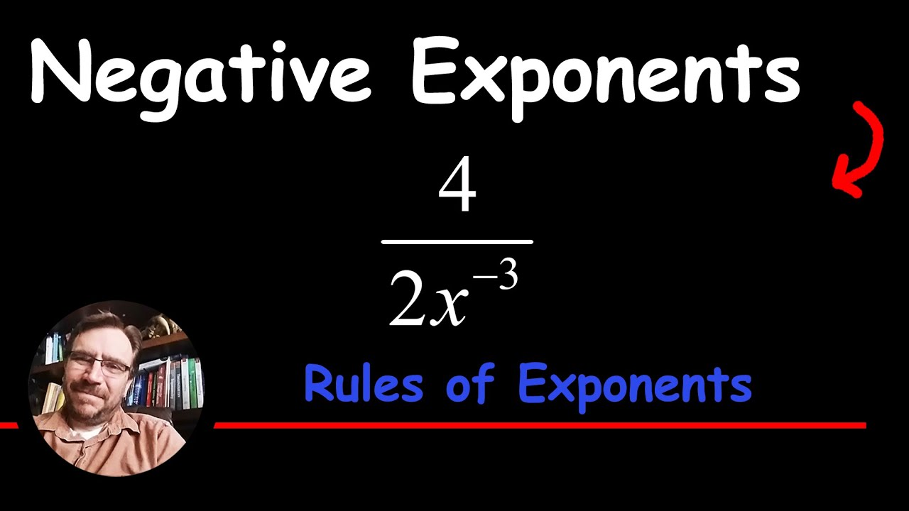 Negative Exponent In The Denominator Of An Algebraic Fraction How To Divide
