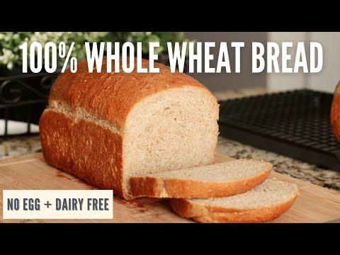 Easy, Soft 100% Whole Wheat Bread | No Egg & Dairy Free | Vegan & Vegetarian