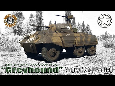 "War Thunder: M8 Light Armored Car ""Greyhound"", American Tier-1, Armored Car / Light Tank"