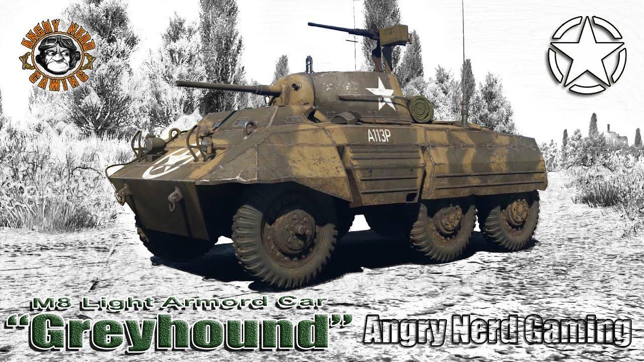 "War Thunder: M8 Light Armored Car ""Greyhound"", American Tier-1, Armored Car  / Light Tank"