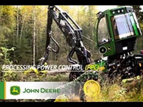 Der John Deere 6-Rad-Harvester 1270G
