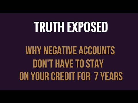 TRUTH EXPOSED! Why Negative Accounts Don't  Have To Stay On