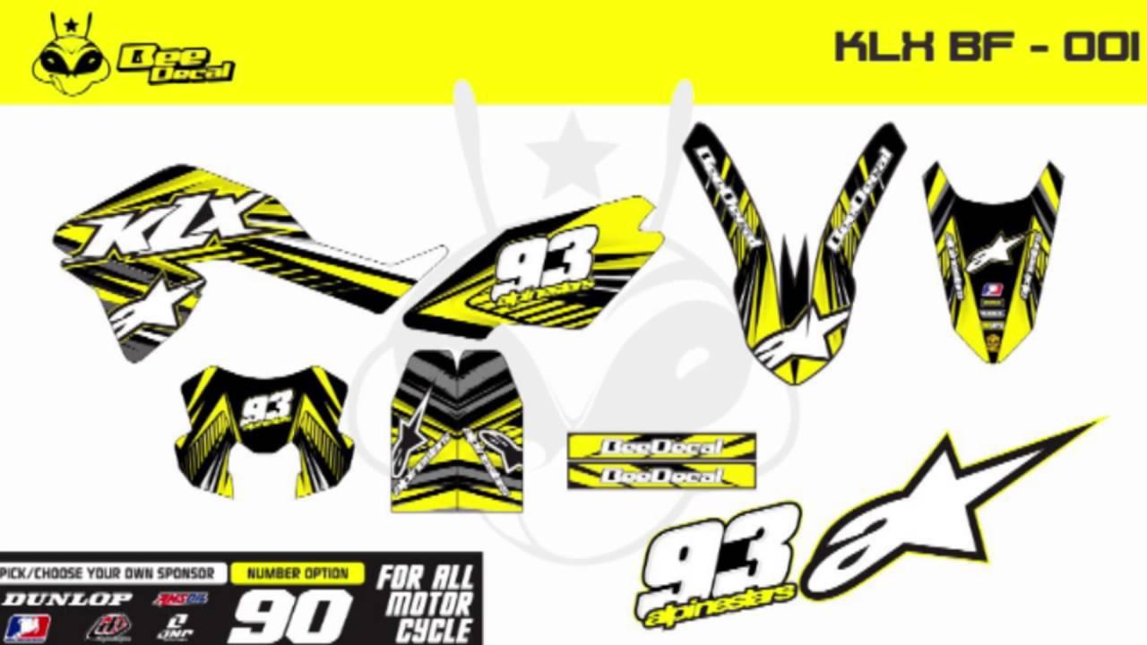 Kawasaki klx desain modifikasi stiker beedecal
