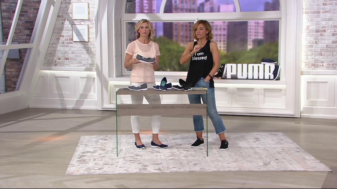 3cb2a11753158c PUMA Slip-On Mesh Sneakers - Vega Ballet Flume on QVC - YouTube