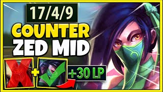 How to ALWAYS Beat Zed EVERY Ranked Game...You Will FARM Free LP ;) - League of Legends