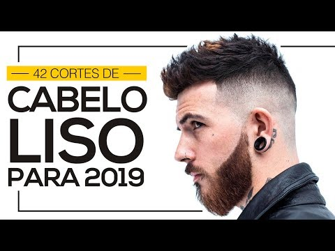 ⚫️ 42 Cortes de Cabelo Liso Masculino para 2019