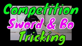 Bo Staff and Competition Sword Tricking | Urban Bo Staff Sword Tricks