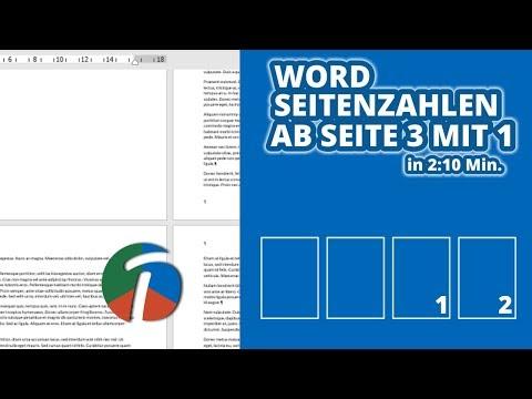 Word Seitenzahlen Ab Seite 3 Mit 1 - In 2 Min Ganz Einfach Erklärt!