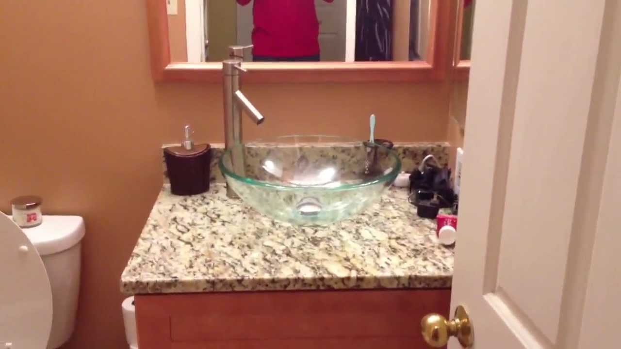 Modern Bathroom Upgrade With Bowl Sink And Jet Hot Tub Remodel