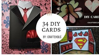 34 diy card ideas for any occasion |card for birthday \valentines day \anniversary\friends
