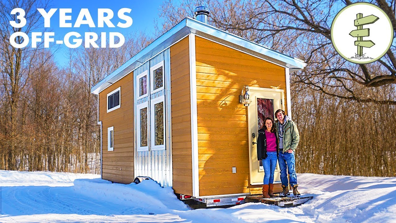 3 Years Living Fully Off The Grid In A Tiny House Youtube