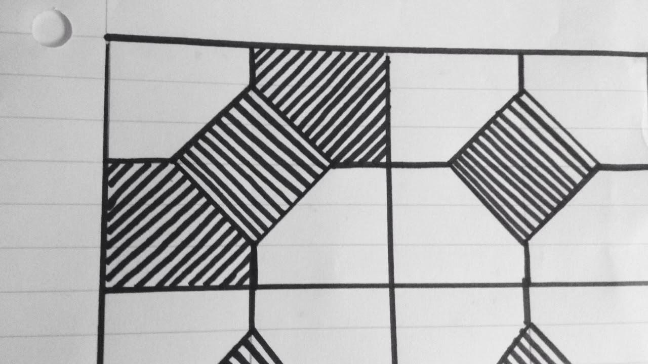 رسم زخرفة بسيطة جدا تشبه الربطة رقم 86 Youtube