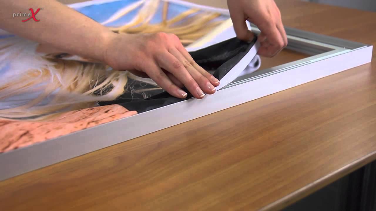Primex Stoff in Rahmen einsetzen - Primex fabric insert into frame ...
