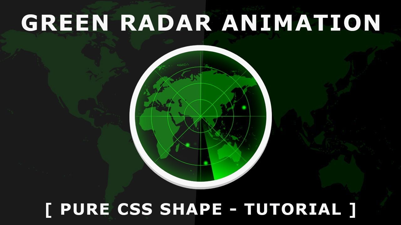 CSS Animated Radar - Pure CSS Shape - Css Animation Effects - Tutorial