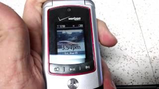 Motorola V750 with Dukes of Hazzard customization