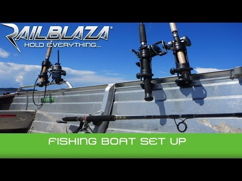 Aluminium boat fit-out with RAILBLAZA mounting system