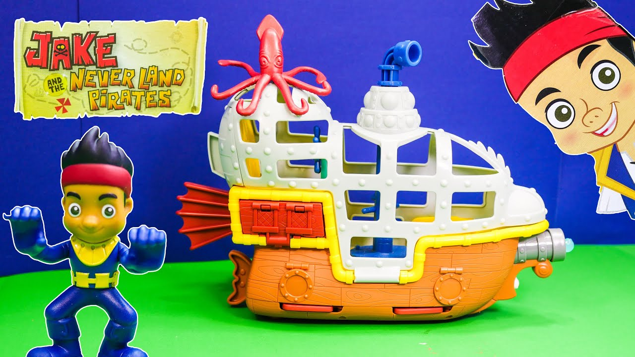 Unboxing Jake and the Neverland Pirates Bucky the Submarine Toy ...