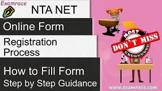 How to Fill NTA NET Online Registration Form 2019 | UGC NET Apply Process Don't Miss, Must Watch