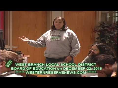 WEST BRANCH SCHOOLS 12-22-16 Michelle Randlett